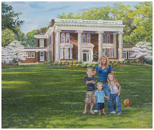 Hall Family, Original oil painting by the fine artist Eric Soller