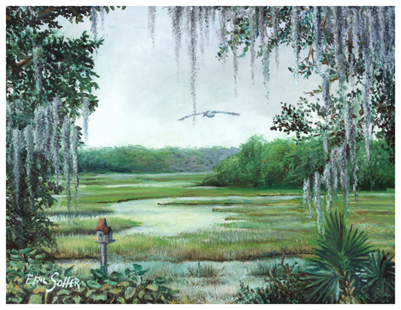 Low Country, Original oil painting by fine artist Eric Soller