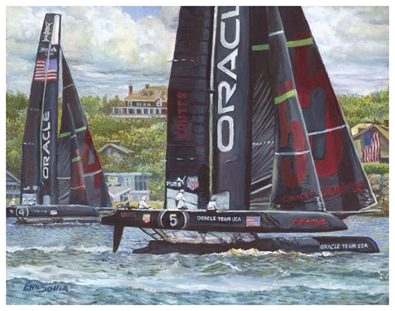 Team Oracle, Original oil painting by the fine artist Eric Soller
