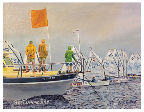 The Commodore, Original oil painting by Eric Soller